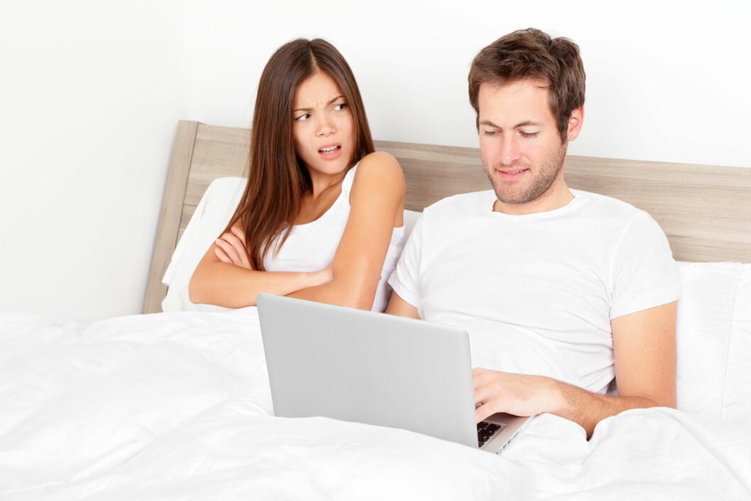HELT GREIT MED PORNO: Ifølge Caitlin er det helt greit å se på porno iblant.  Foto: Maridav - Fotolia