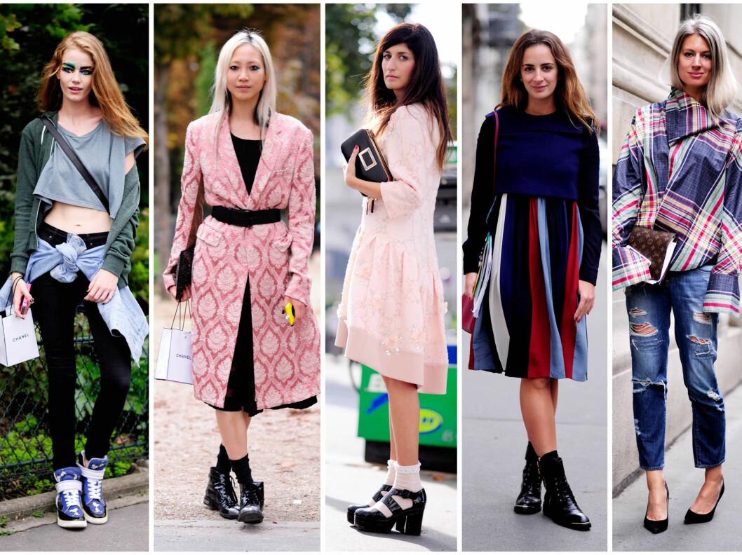 STREET STYLE: Det har vært flust av kule street style-damer ute i gatene i Paris i uken som har gått. Her er bare en liten håndfull... Foto: All Over Press