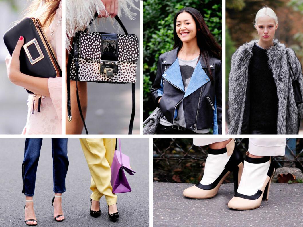 DETALJER: Sjekk de lekre veskene, skoene og jakkene fra Paris! Foto: All Over Press