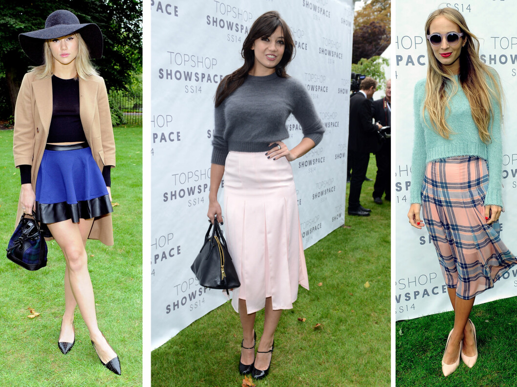 IT-GENSEREN ER KORT: Fra venstre Suki Waterhouse, Daisy Lowe og Harley Viera-Newton. Foto: All Over Press