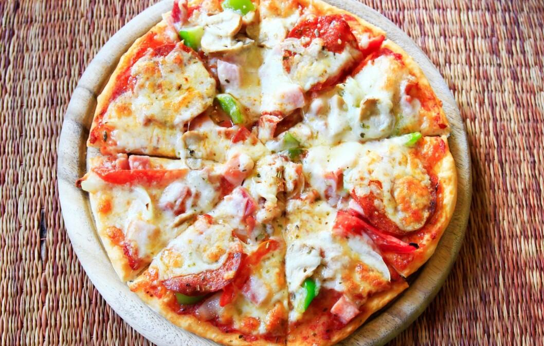 GODT, MEN USUNT: Uansett hvilken du velger er ikke pizzaen en supersunn middag. Foto: Colourbox