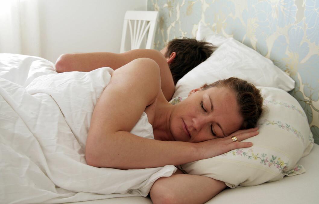 TRIVES DU BEST I EGEN SENG? Ekspert sier at mange har et fint perforhold selv om de sover hver for seg. Foto: Colourbox.com