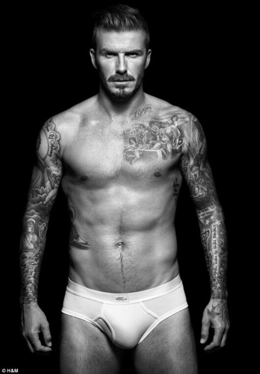 SEXY, MEN...Joa, David Beckham er sexy og har en fantastisk kropp, men den trusa...nja... Foto: © H&M