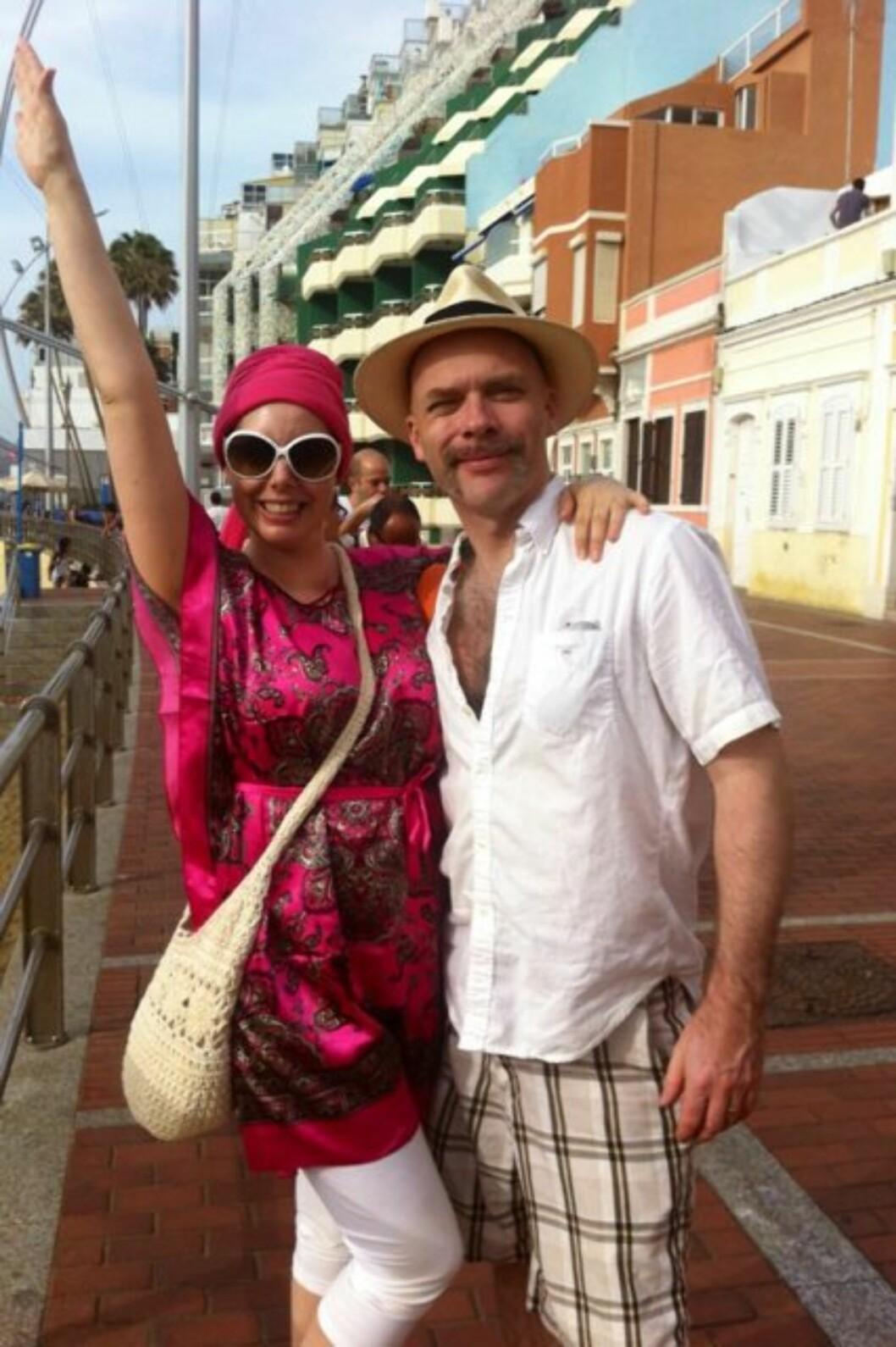 BEUNDRER ANBJØRG: Jono skriver også at han beundrer konas mot i kreftkampen. Foto: Privat