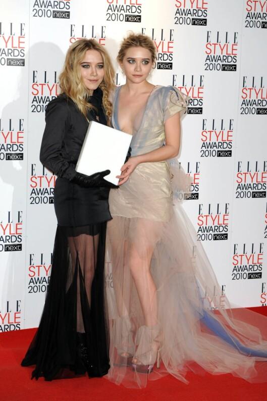 HØYERE: Ashley (til høyre) er litt over 2 centimeter høyere enn Mary-Kate.  Foto: All Over Press