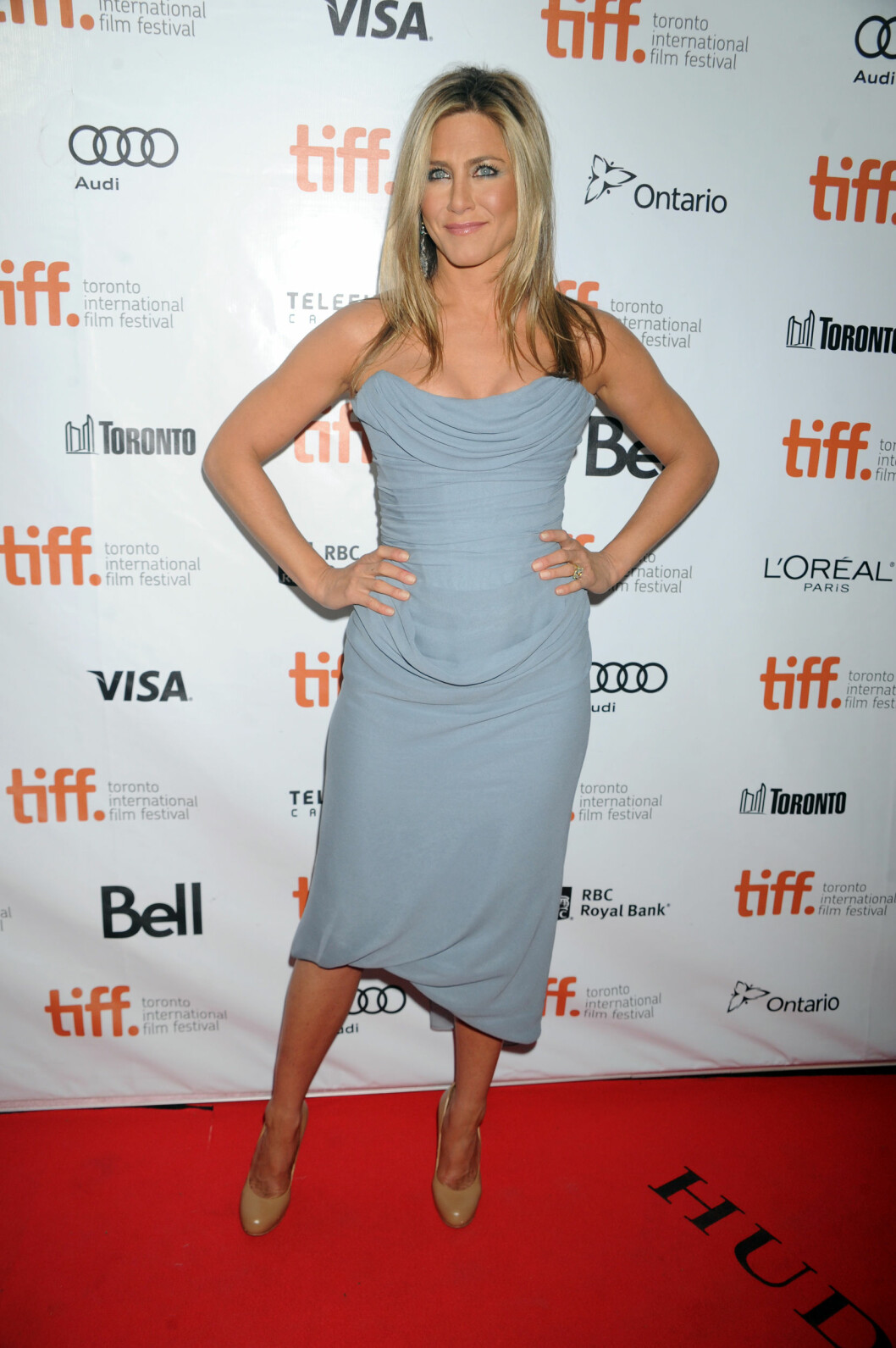 SEXY: Jennifer Aniston strålte på filmpremieren Toronto forrige helg. Foto: Brock Miller / Splash News/ All Over Press