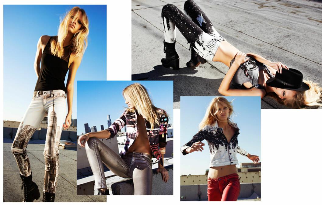 KOMMER TIL NORGE: Daniella Clarke - som er gift med den kjente gitaristen i Guns N' Roses, Gilby John Clarke, er designeren bak jeans-merket Frankie B. Foto: Produsenten