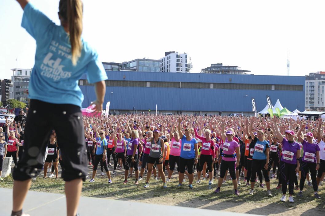 BRA OPPMØTE: Omlag 5000 møtte i dag opp for å delta på KK-mila.  Foto: Vilde Borse