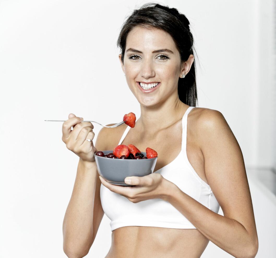 TRENINGSMAT: Det er viktig å spise nok og riktig mat både før OG etter trening (helst 0-30 minutter etter trening).  Foto: Getty Images/iStockphoto