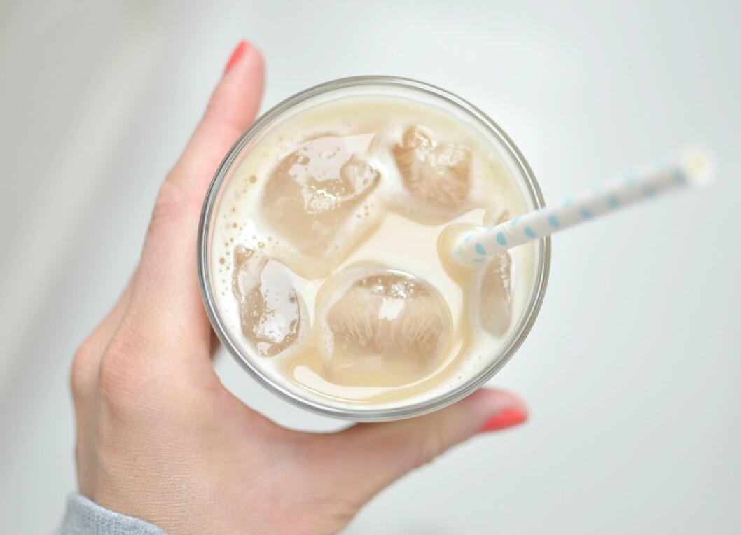 GIR ENRGI: Vaniljefrappé - kaffedrikk med ekstra protein. Foto: Karoline Nordbø
