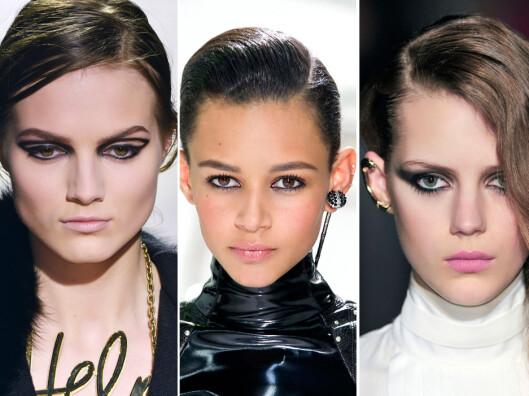 KLASSIKER: De sorte markerte øynene går aldri av moten, og er å se på catwalken nok en sesong.  Foto: All Over Press