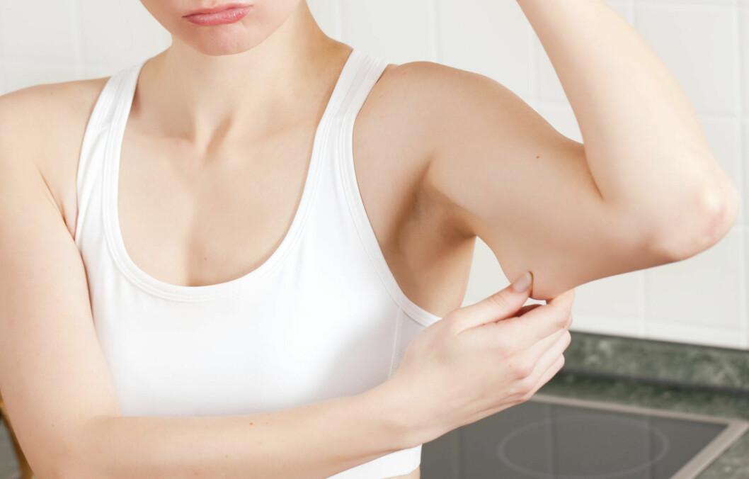 """FINE ARMER: Med litt treningsinnsats kan du stramme opp overarmene, dersom du synes de begynner å bli litt """"slappe"""".  Foto: Thinkstock"""