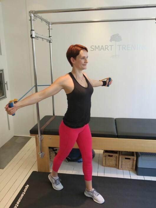 BRA FOR KROPPEN: Ifølge Helle er det bra å trene i barseltiden, så fremt du lytter skikkelig til kroppen din.