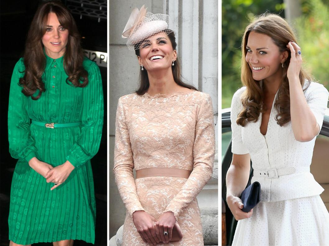 SAMME FARGE: Hertuginnen av Cambridge - Kate, velger ofte et belte i samme farge som antrekket for et mer klassisk og stilfullt uttrykk. Foto: All Over Press