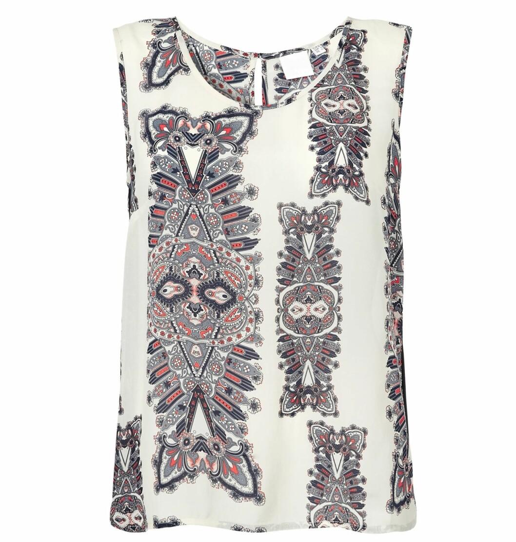 Ermeløs bluse (kr 800, Inwear). Foto: Produsenten