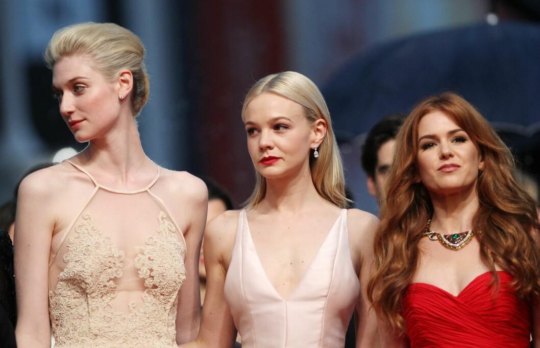 CANNES VAKRESTE: Skuespillerne fra The Great Gatsby; Elizabeth Debicki, Carey Mulligan og Isla Fisher.  Foto: All Over Press