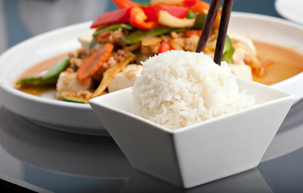 <strong>TOMME KALORIER:</strong> Hvit ris inneholder lite vitaminer og mineraler.  Foto: Todd Arena