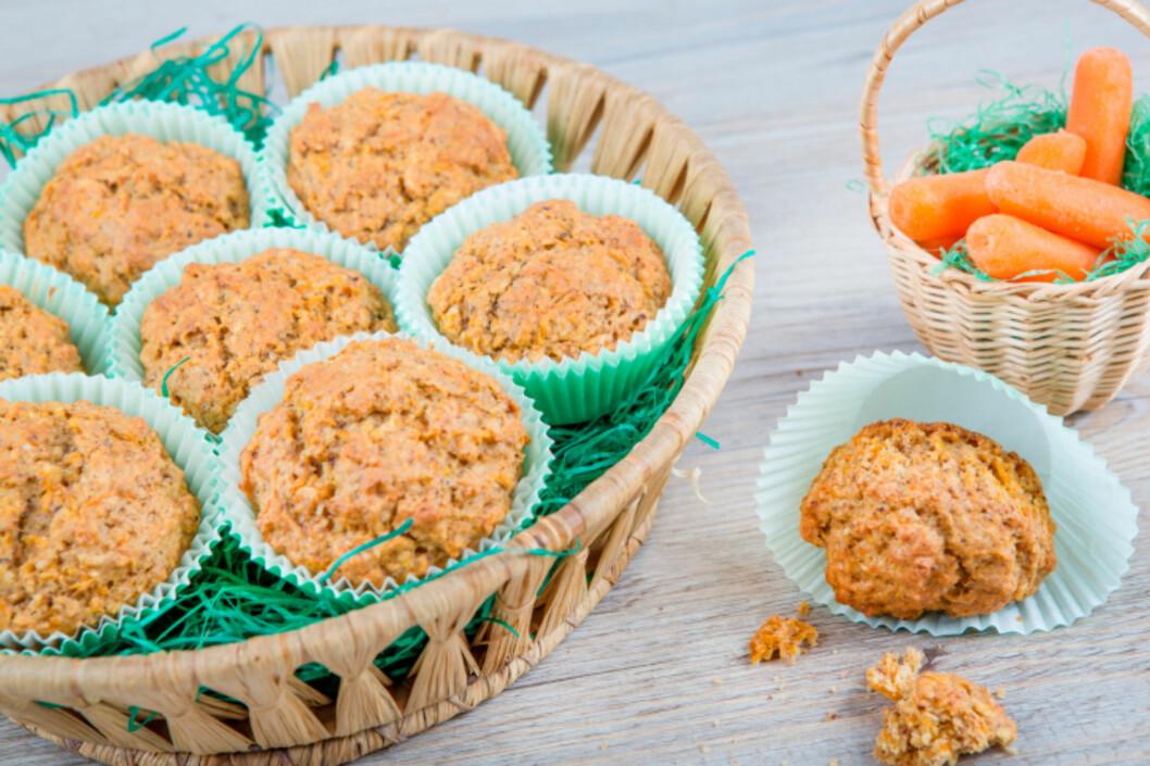 REVNE GULRØTTER: Revne gulrøtter er perfekte å ha i både brød, grove muffins og rundstykker. Det gjør også baksten ekstra saftig. Gulrøtter er ogs¨å supert å ha i karbonadedeig. Foto: Getty Images/iStockphoto