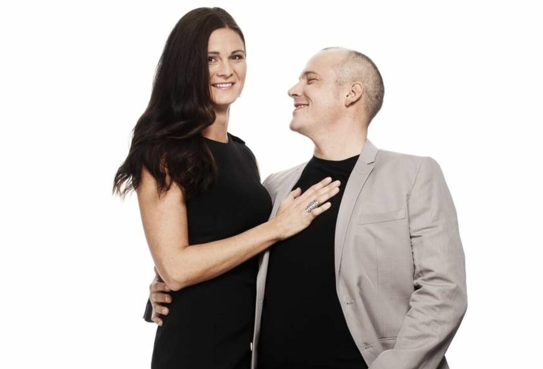 Irmelin (37) og Hans Gisle (39) Sørensen har vært gift i 18 år, siden de var 19 og 21. Foto: Ole Martin Halvorsen