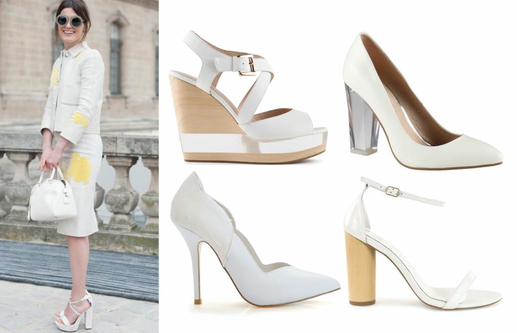 16313d3c VÅRENS FRESHESTE SKO: Stilikon og supermodell Hanneli Mustaparta i hvite  sko til lys drakt fra