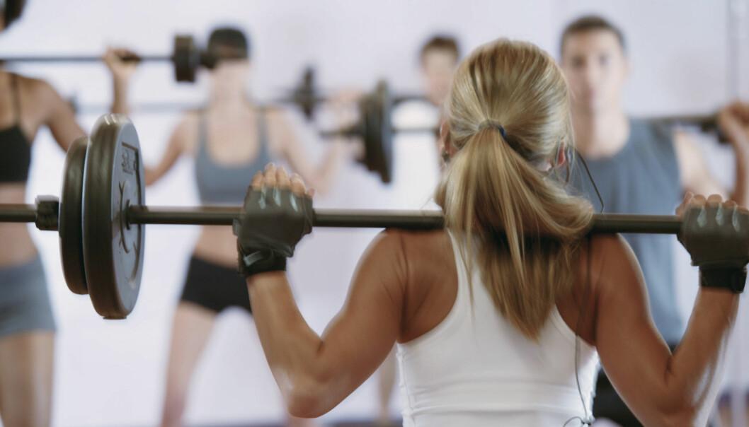 <strong>STYRKETIME:</strong> De fleste treningssentre har gruppetimer som handler om styrketrening. Foto: Getty Images/Comstock Images