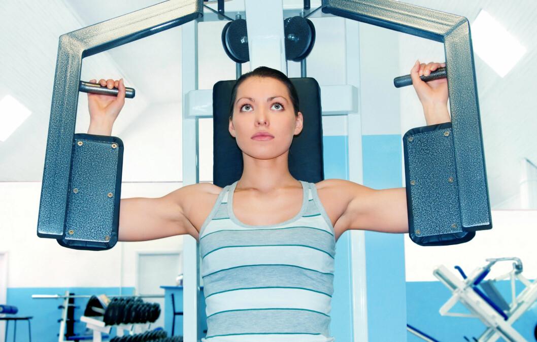 <strong>PÅ EGENHÅND:</strong> Med litt planlegging klarer de fleste av oss å trene alene på senteret. Foto: Colourbox
