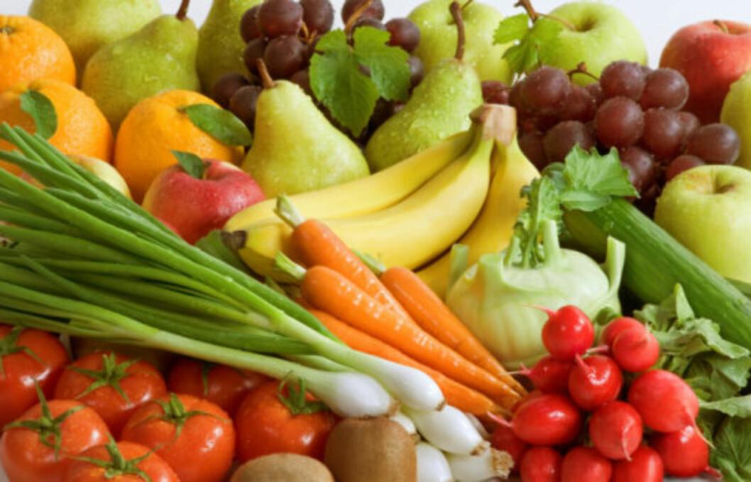 FEM OM DAGEN: Både frukt og grønnsaker gir deg en god kickstart på morningen.  Foto: Thinkstock.com