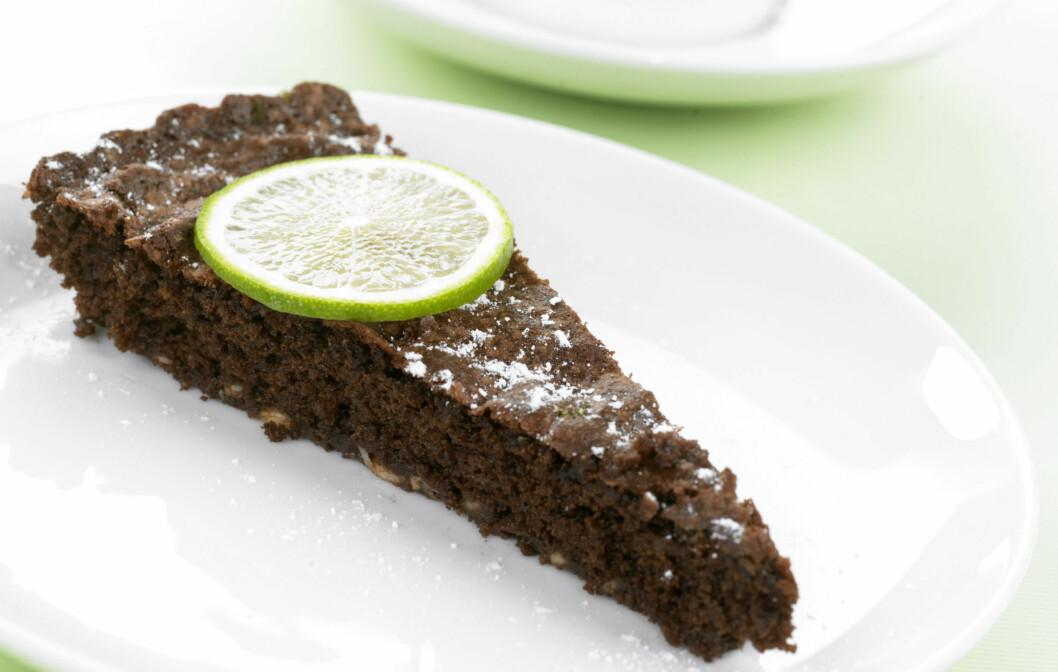 <strong>DEILIG VALG:</strong> Saftig sjokoladekake med smak av lime. Foto: inkognito as
