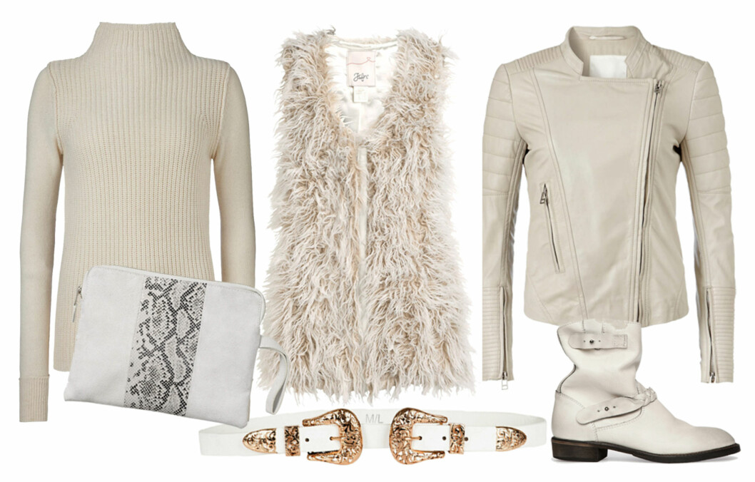 HVITT, HVITT, HVITT: Såklart kan du bruke hvitt på vinteren også! Her er de beste styling- og kjøpetipsene. Foto: All Over Press