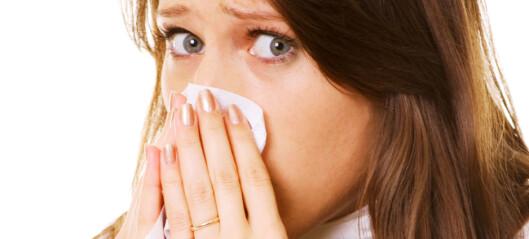 Å blåse nesen hjelper ikke mot tetthet