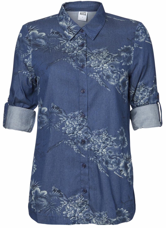 Denimskjorte (i butikk i februar) - 299,99 kroner.  Foto: Vero Moda