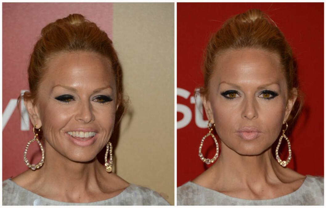 SMINKEBOM: Stjernestylisten Rachel Zoe bommet helt på sminken under Golden Globe-utdelingen. Foto: All Over Press