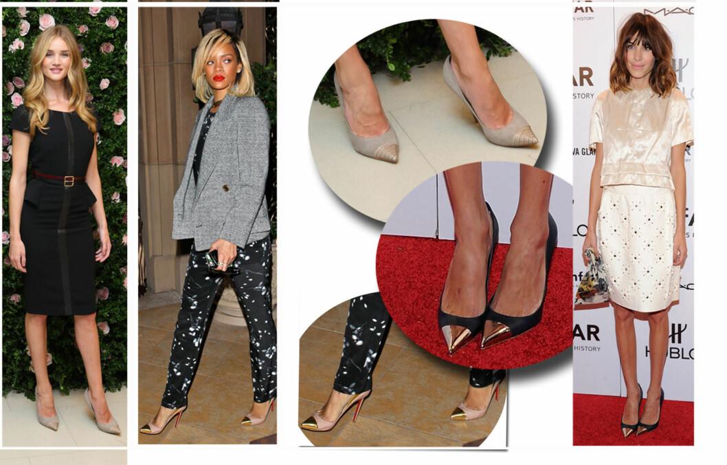 <strong>TRENDY:</strong> Modellen Rosie Huntington-Whiteley, artisten Rihanna og stilikonet Alexa Chung har allerede lagt sin elsk på skomoten. Foto: All Over Press