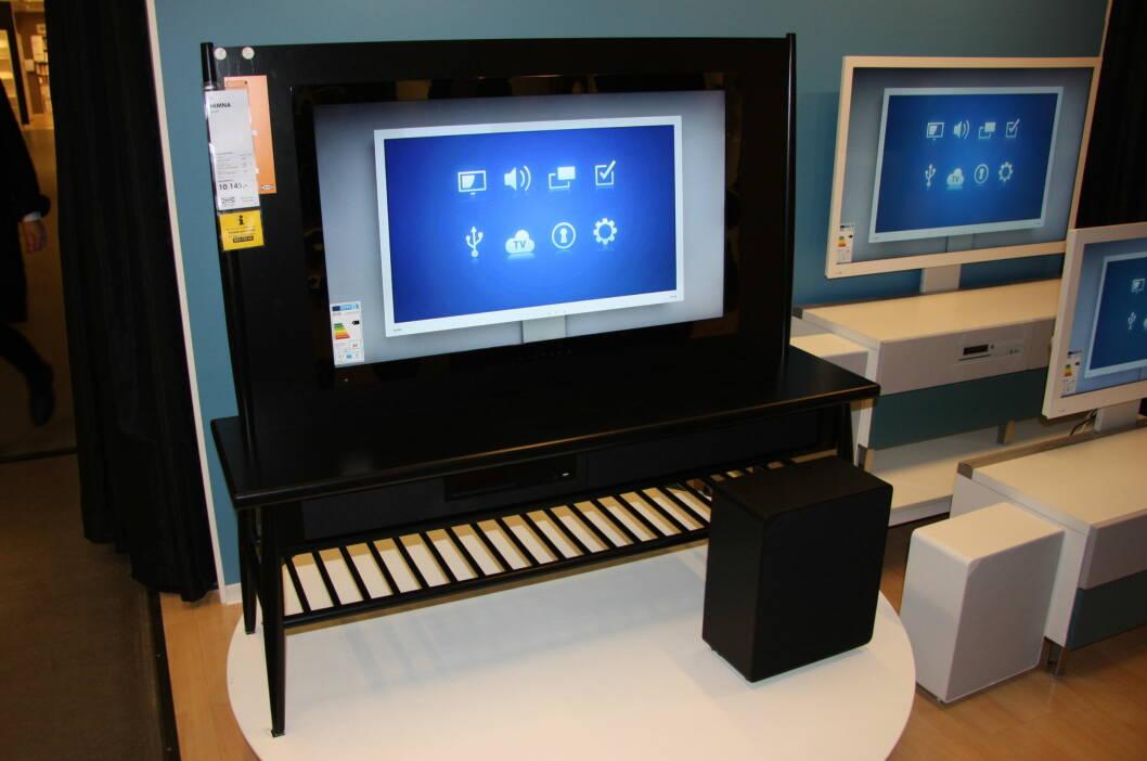 INSPIRERT AV 60-TALLET: Designerduoen Wiis har designet en TV-løsning som kan ligne litt på pinnestolene fra 60-tallet. Foto: Tone Ruud Engen