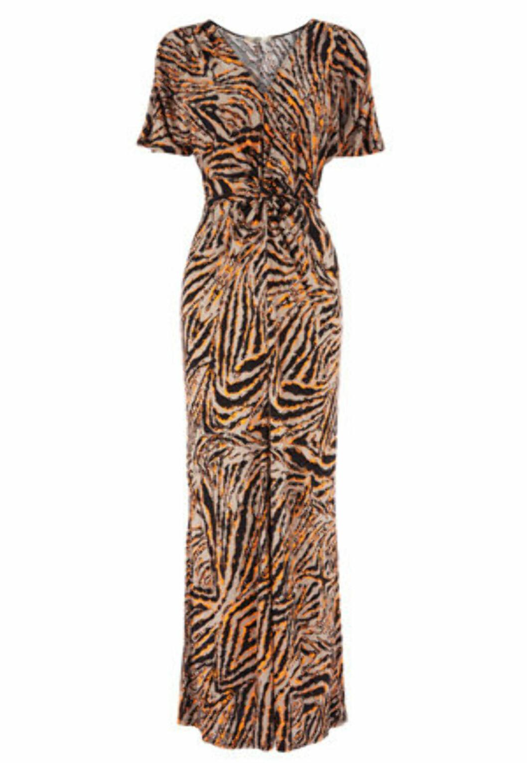 Dyremønstret kjole (ca kr 550/Oasis). Foto: Produsent