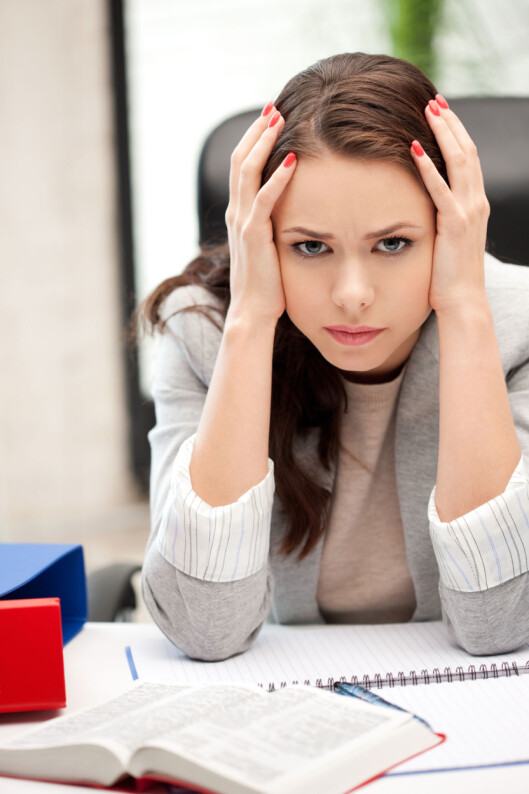 JOBBMAS: Gjør jobben deg seriøst stressa? Prøv å omstrukturere arbeidsdagen, ta en prat med sjefen for å finne løsninger - eller ta grep og bytt jobb! Foto: Colourbox