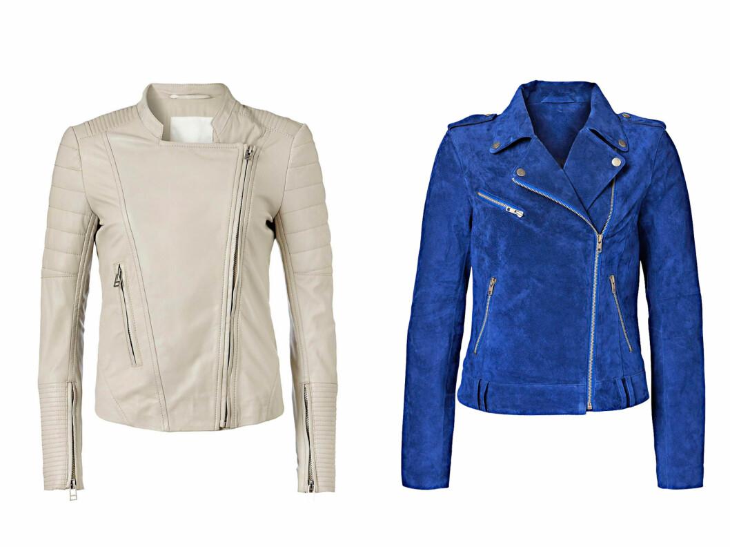 FAVORITTENE: Disse to jakkene er blant KKs favoritter. Den lyse er fra InWear og koster 3900 kroner), den blå er fra Vero Moda (700 kroner).   Foto: Produsentene