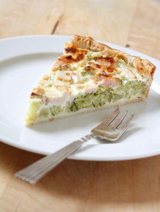 GODT OG METTENDE: En vegetarquiche med spinat gir deg proteinene du trenger. Foto: Colourbox