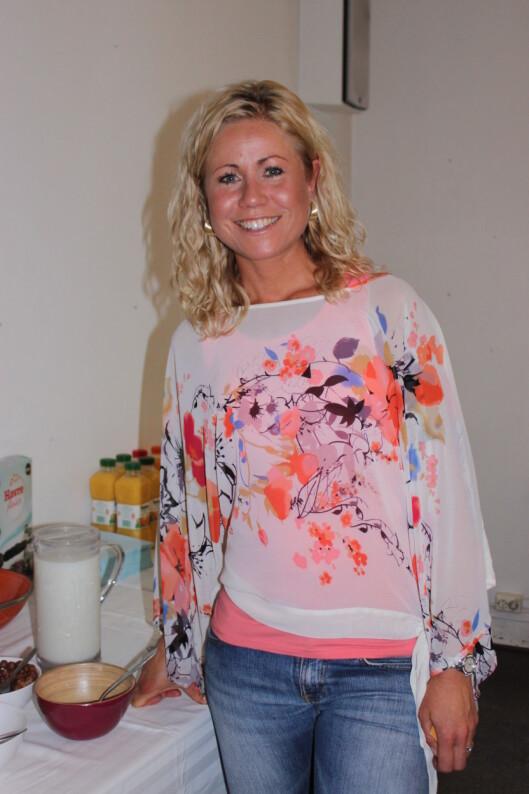 """ERNÆRINGSEKSPERT:Tine Sundfør er klinisk ernæringsfysiolog. KK.no møtte henne i forbindelse med lanseringen av Quakers nye frokostblanding """"Havre Flakes"""" fredag 27. april.  Foto: Adéle Cappelen Blystad"""