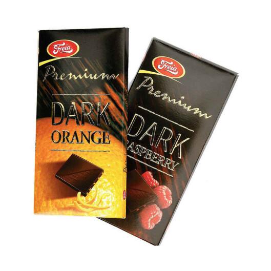MØRK OG DEILIG: Mørk sjokolade metter behovet raskere enn lys. Foto: Freia