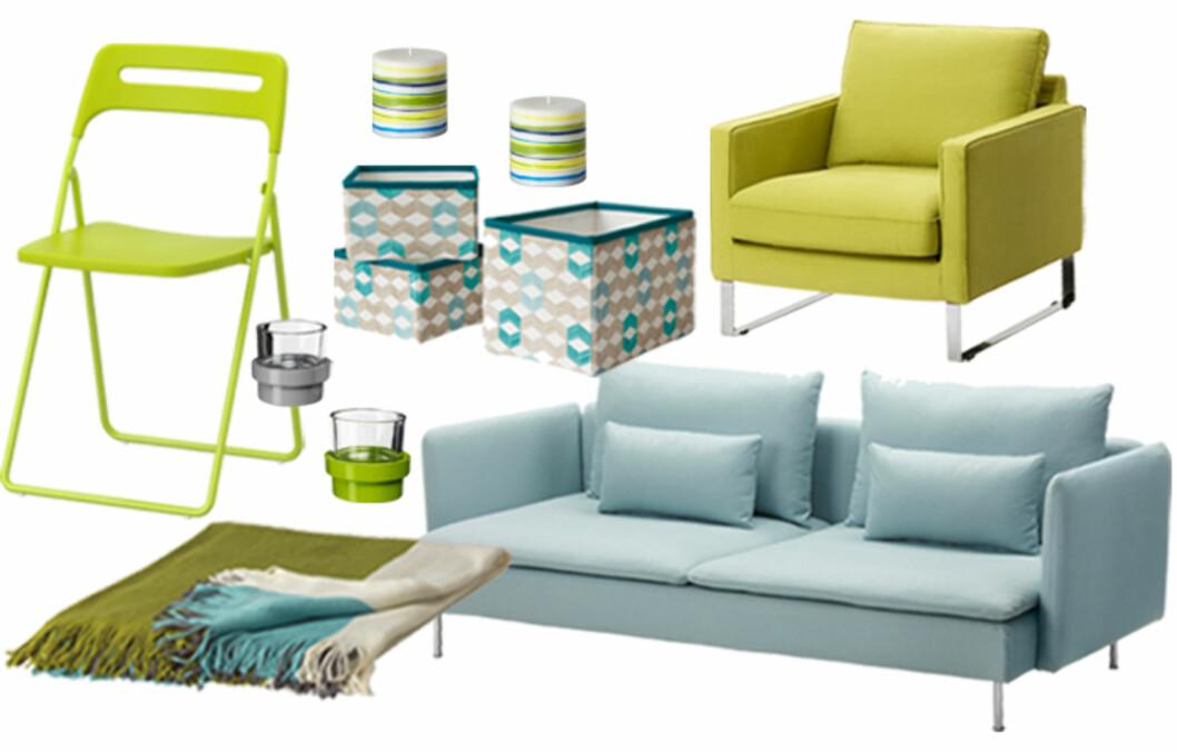 <strong>FRISK OPP HJEMME:</strong> Med nyhetene fra Ikea kan du nyte lange middager med et nytt spisebord eller lyse opp hjemmet med en ny lampe inntil de lange sommerkveldene er her.  Foto: Produsenten