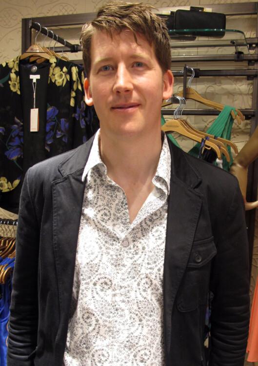 SEBASTIAN TARLETON: Internasjon manager for Monsoon var tilstede på ettårsjubileet til butikken i Oslo.