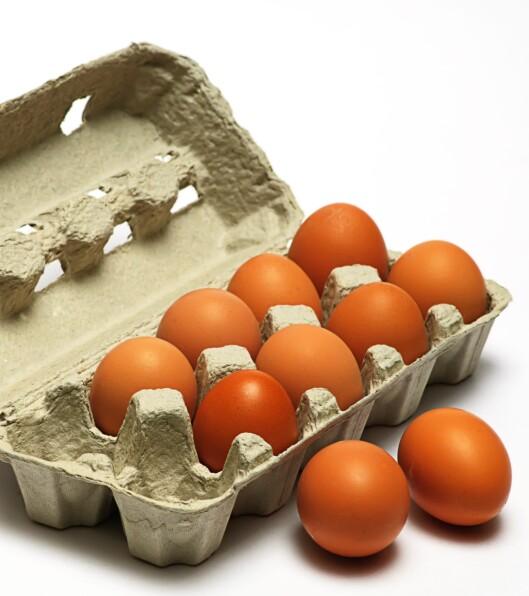 TA VANNTESTEN: Egg holder mye lenger enn datostemplingen sier. Foto: Colourbox