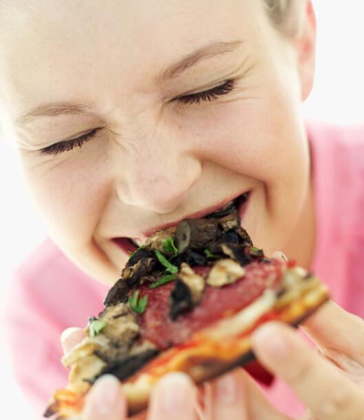 GLADMAT: Elsker du pizza? Spis det og kom i godt humør! Foto: Thinkstock