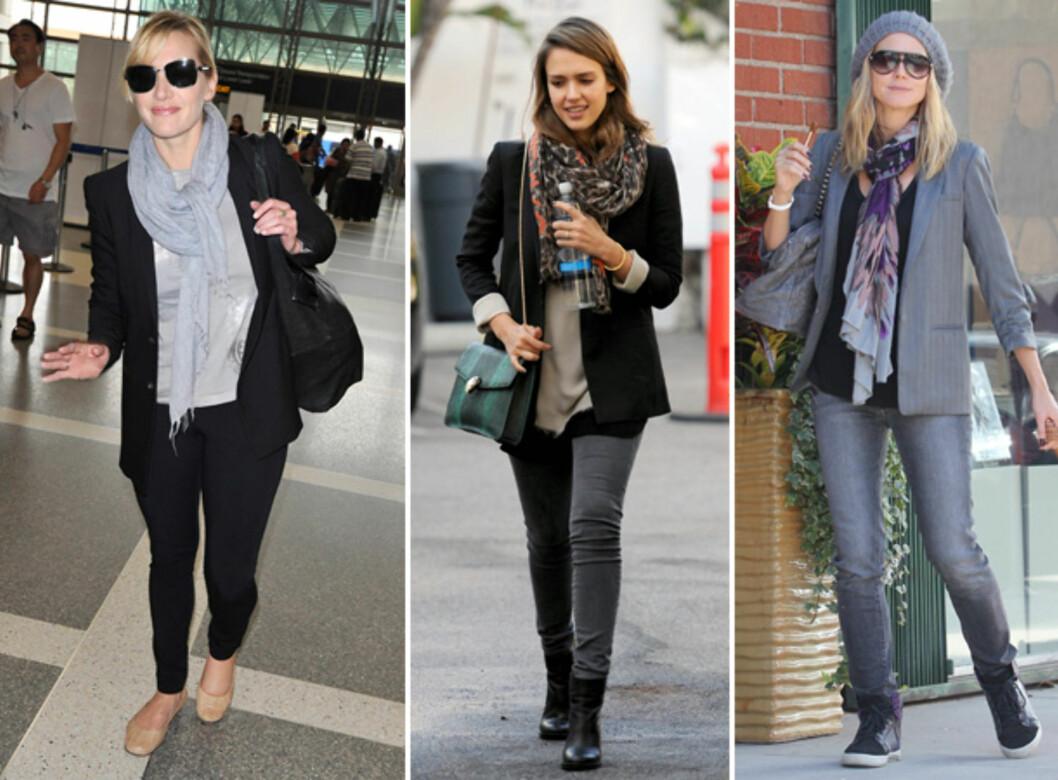 <strong>SKJERF SOM GJØR SUSEN:</strong> (F.v) Kate Winslet, Jessica Alba og Heidi Klum. Foto: All Over Press