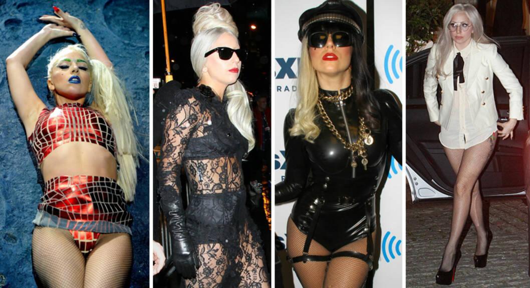 FAN AV TRUSEKORT: Popstjerne Lady Gaga observeres stadig i bare trusen. Foto: All Over Press