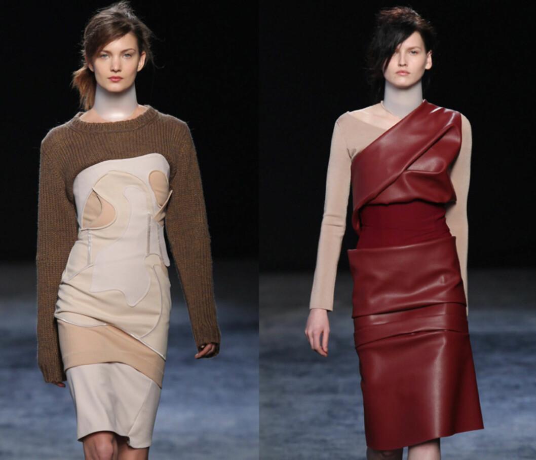 INNI KJOLE: Dersom du ønsker å bruke vårgenseren OG vårkjolen kan du gjøre som Acne - og kjøre genseren inni kjolen! Foto: All Over Press