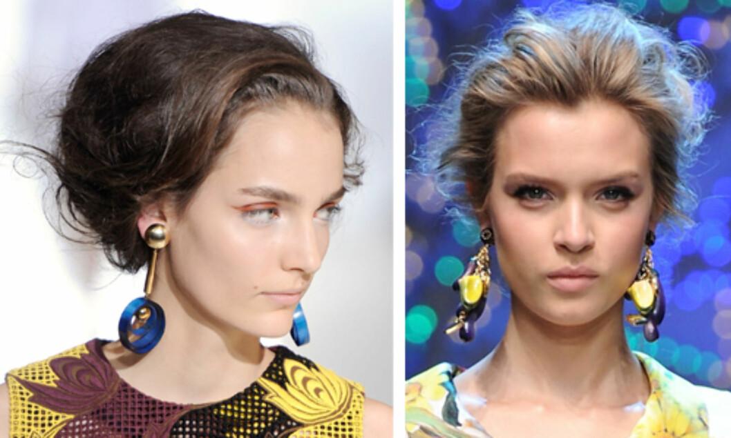 LØSE OPPSATSER: Som hos Marni og Dolce & Gabbana. Foto: All Over Press
