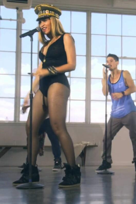 """Også Beyoncé liker skoene, og brukte dem i musikkvideoen til """"Love on Top"""". Foto: All Over Press"""