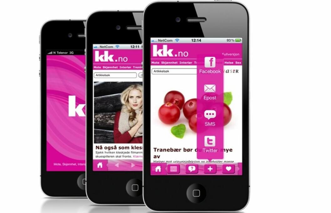 GRATIS: Ved å laste ned iPhone-appen til KK.no blir det enda enklere å lese nettstedet på mobilen.  Foto: Aller Internett